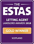 Gold - Letting Agent of the Year 2018 - Voted by Landlords