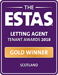 Gold - Letting Agent of the Year 2018 - Voted by Tenants