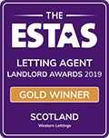 Gold - Letting Agent of the Year 2019 - Voted by Landlords